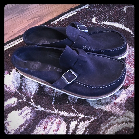 7143a0d09e0 Birkenstock Buckley Clog, Navy. Worn once, Size 38